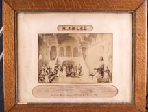 McVickers New Theatre 1872 London. Hamlet Cast photo. Edwin Booth included.
