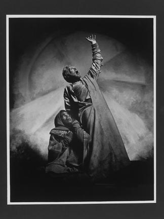 1975 Production King Lear Asolo Theater Burton McNeely as Fool with Robert Strane as Lear