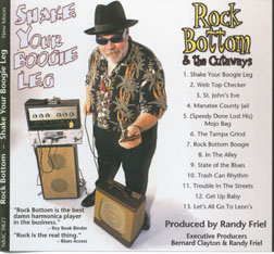 Rock Bottom Blue singer, photographer and photos for CD cover, CD art, Florid