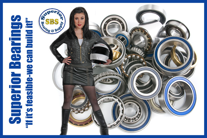 Amanda Lynn Mullen as Paige, Superior Bearing and Supply spokesmodel, Large studio photo session