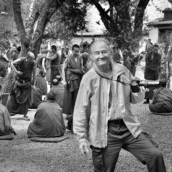 Gary at the Debating Courtyard, Lhasa, Tibet