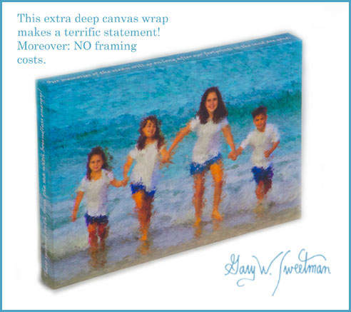 canvas wraps, photos on canvas, custom poetry on portraits