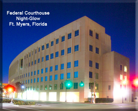 federal courthouse ft myers florida night photo