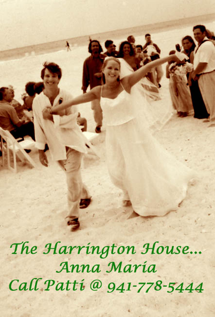 Sepia and White wedding photo on the beach Harrington House