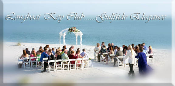 Longboat key Club Sarasota Florida beach wedding blue gulf waters in background