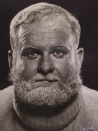 Rich Brinkley as Pappy Hemingway redux of Karsh Portrait