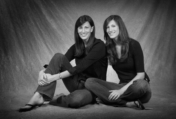Lakewood Ranch Photography Black and White portrait of Twins in studio