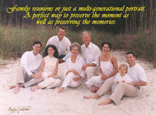 Multigenerational Portrait on the Beach