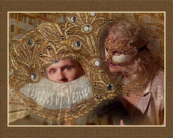 Venetian mask composite, Art photos, painting like photos, poems on pictures