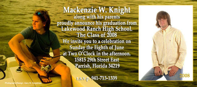 custom graduation announcement lakewood ranch high school