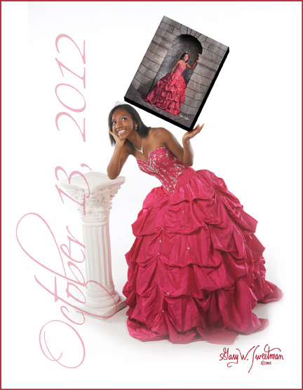 Quinceanera formal portrait. estudio foto quinceanera formal