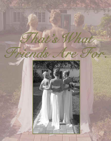 bridesmaids hugging outdoor wedding that's what friends are for