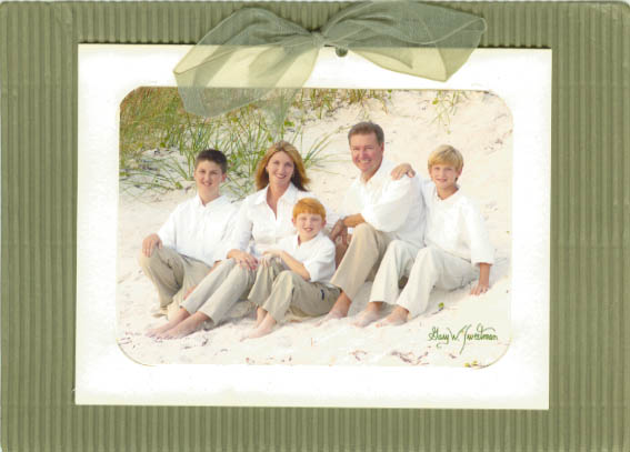 Stylart christmas card dealer in Florida, photo on beach for holiday card